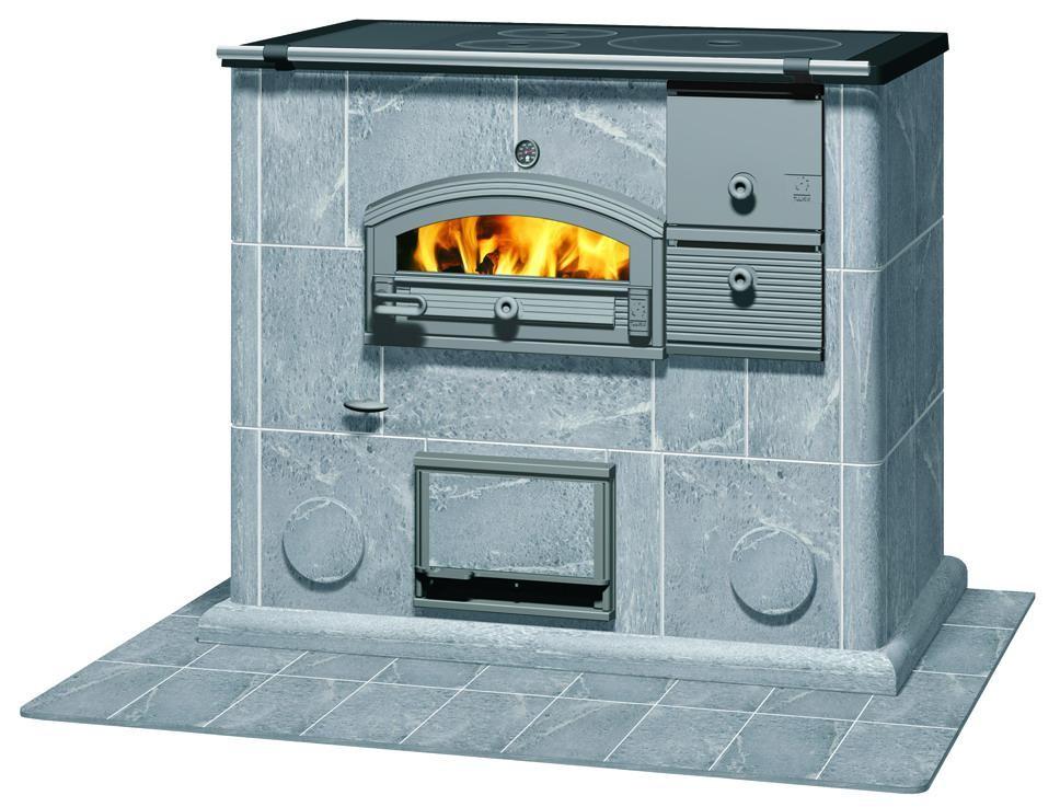 Отопительная печь с плитой и духовкой